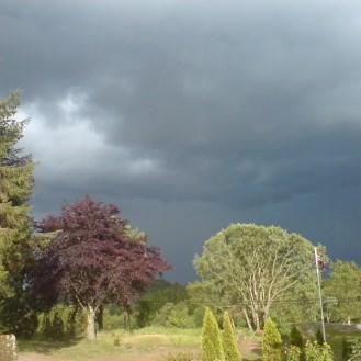 Tordenvær en sommerdag